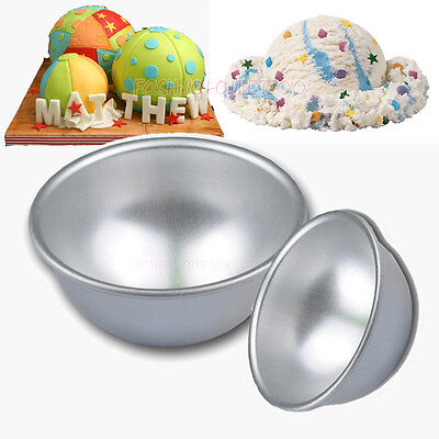 3D Half Bomb Ball Sphere Cake Pan Mould Decorating Tins Tool Kitchen Mold 3 Size