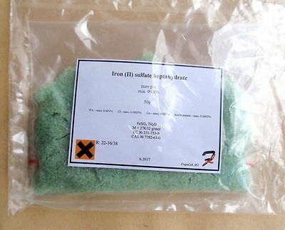 Iron (II) sulfate heptahydrate (Ferrous) - 99.5% pure p.a. 50-100-200g 7782-63-0
