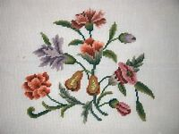 Ep 4534 Vintage Floral Preworked Needlepoint Canvas