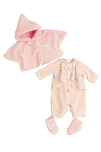 Puppen Kleidung Overall Jacke rosa für 45 cm Spielpuppen Amy Schildkröt 45723...