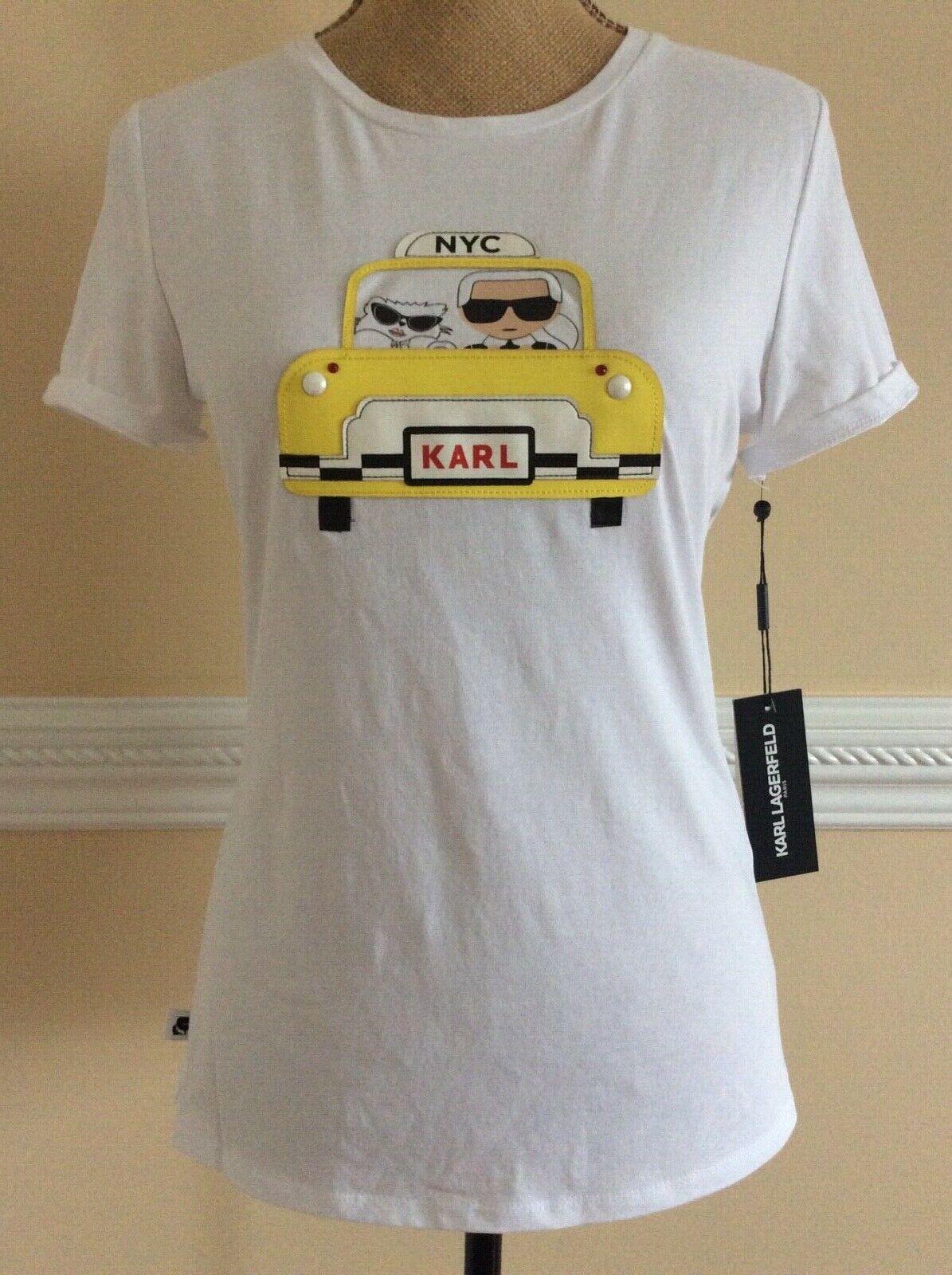 Karl Lagerfeld NYC Paris Cotton T-Shirt Sz M NWT