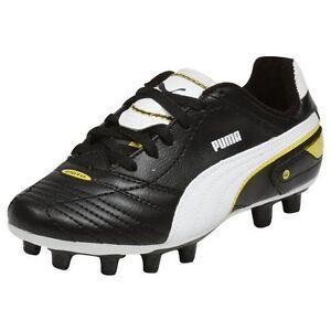 Puma Soccer Cleats Shoes Esito Finale R HG Junior Jr Youths Kids Children Black