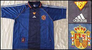 Maillot-shirt-Espagne-Football-Spain-Jersey-Espagna-Chemise-Vintage-Rare-Soccer