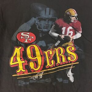 SAN FRANCISCO 49ERS VTG 80s T-Shirt Joe Montana By Salem Sportswear ... ce0e4eaaa