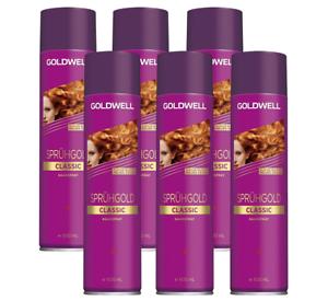 6-x-Goldwell-Spruehgold-Classic-Haarspray-600-ml-NEU-amp-OVP-kein-Import