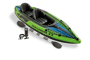 Intex-Challenger-K2-2-Person-Inflatable-Sporty-Kayak-Oars-And-Pump-68306EP