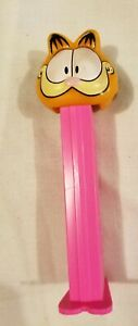Rare-Vintage-Garfield-The-Cat-Pez-Dispenser-Pink-Bottom-1970s-70s-Paws-Slovenia