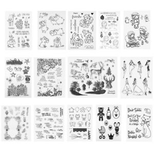 Silicone-Clear-Rubber-Stamps-Seal-Scrapbooking-Album-Card-Decor-Diary-DIY-Craft