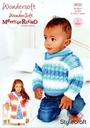 BABY DK KNITTING PATTERN 2 Designs-not the finished items Stylecraft 9635