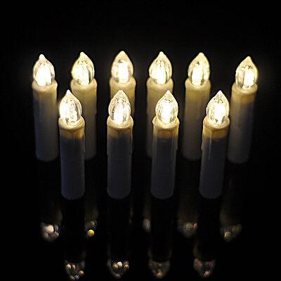 10PCS Color LED Christmas Flameless AA/AAA Tea Candle Light Wedding Party+Remote