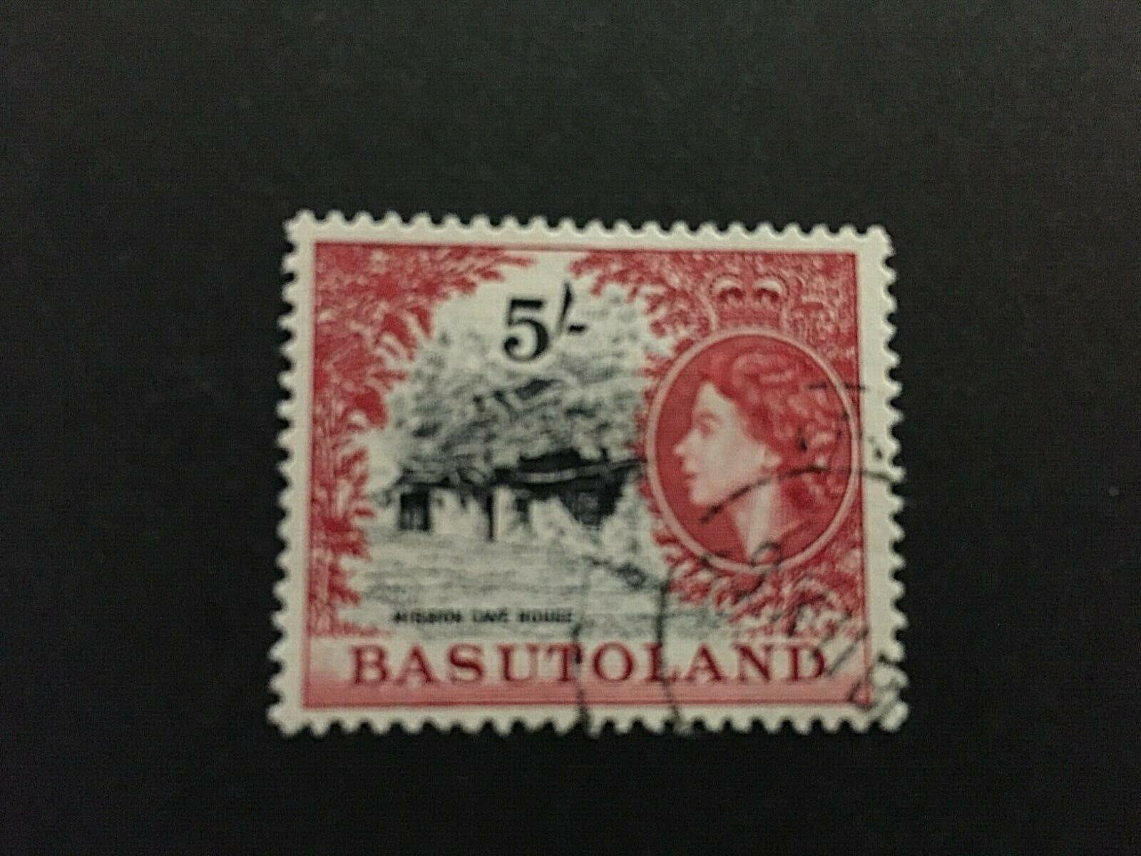Basutoland: 1954, Queen Elizabeth definitive 5/-, SG 52, Fine used