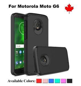For-Motorola-Moto-G6-Strong-Armor-Hybrid-Hard-Shock-proof-TPU-Cover-Case