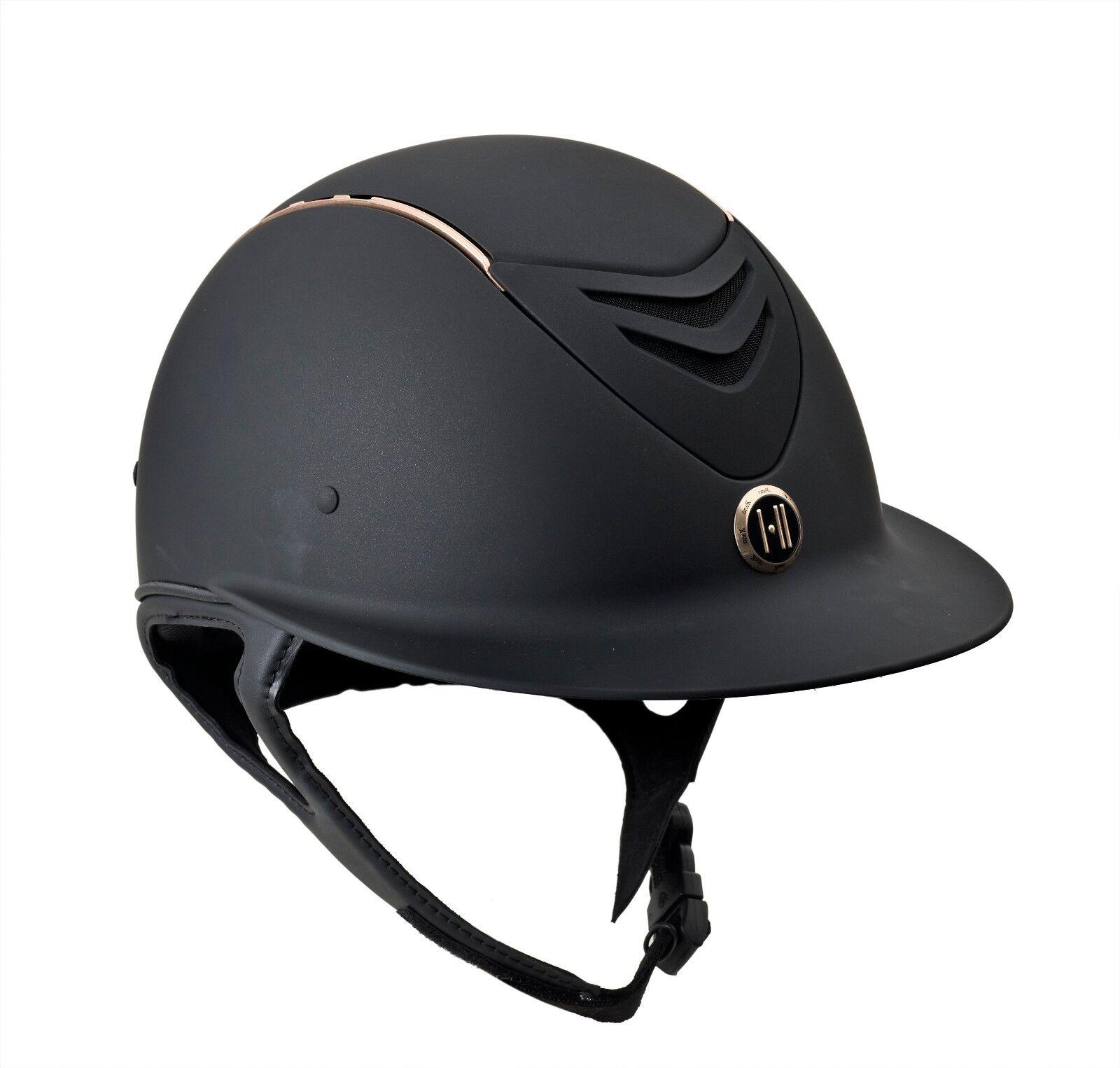 One K Defender AVANCE  Wide Brim pink gold Stripe Helmet  the classic style