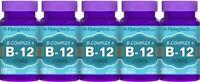 B Complex Plus Vitamin B-12 - Supplement - 900 Quick Release Tablets - 5 Bottles