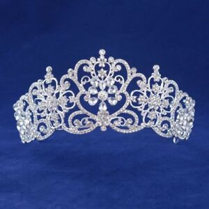 Luxury-Crystal-Rhinestone-Wedding-Royal-Princess-Bridal-Tiara-Crown-Pageant-Prom