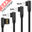 miniature 1 - Right Angle 90 Degree Android Charger Fast Charging Micro USB Cable 3/ 6/ 10 Ft