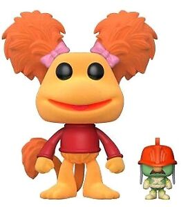 Pop-Vinyl-Fraggle-Rock-Red-with-Doozer-Flocked-US-Exclusive-Pop-Vinyl