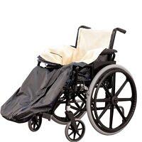 Wheelchair Poncho Waterproof Rain Protection Fleece Lined Zip Cozy Warm Fur Cosy