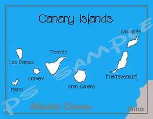 Spain - CANARY ISLANDS - map - Flexible Fridge MAGNET | eBay on
