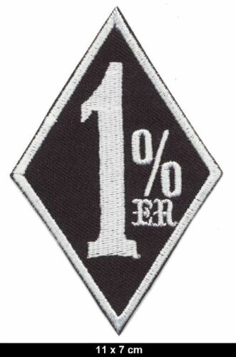 1/% 1 Prozent Percent Aufnäher Aufbügler Patch Motorrad Biker Kutte MC black