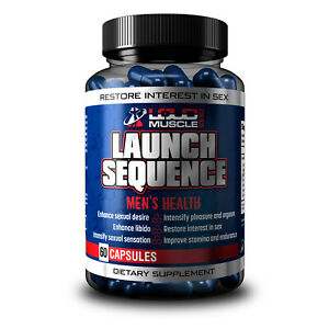 LAUNCH SEQUENCE - Male Enhancement Capsule, 100% Natural, Amazon #1 Best Seller.