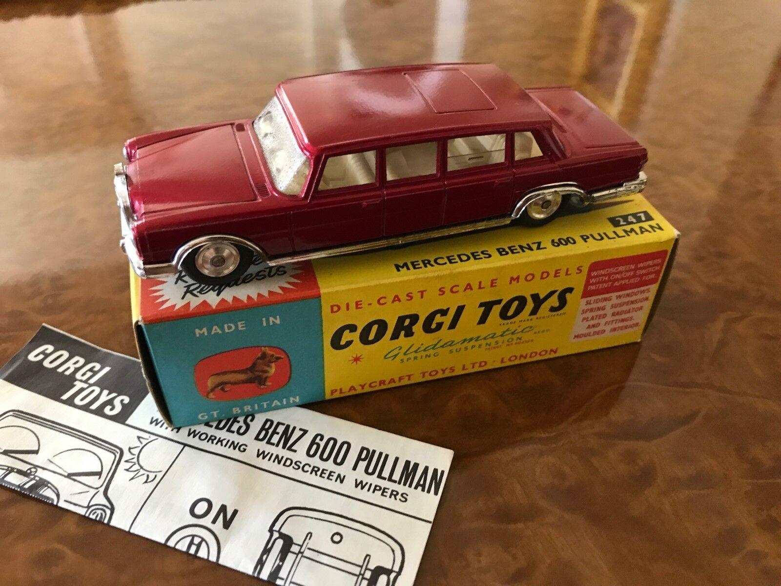 Vintage Corgi Toys   MIB   Mercedes-Benz 600 Pullman Limousine   N0. 247