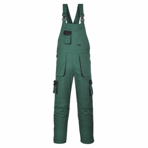 Portwest Texo Bib /& Brace Knee Pad Pockets Elastic Back Trousers S 4XL TX12