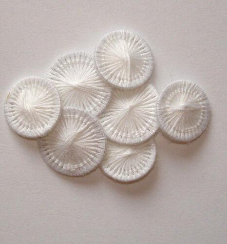100 x Zwirnknopf weiß ♥ 15 mm ♥ Wäscheknöpfe Knopf