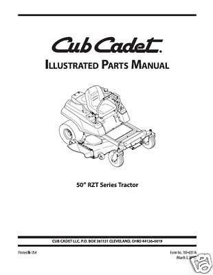 [SCHEMATICS_48YU]  Cub Cadet Parts Manual Model No. RZT 50 | eBay | Cub Cadet Rzt 50 Schematic |  | eBay