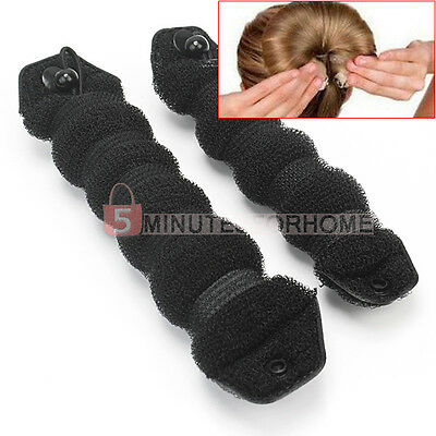 2Pcs Black Large & Small Casual Hair Elegant Magic Style Hot Buns Doughnut Bun