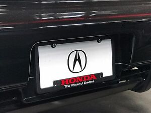 Acura License Plate Frame Honda Power Of Dreams Pair Rare Limited - Acura license plate