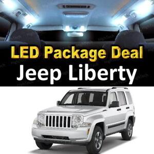 For 2008 2011 2012 Jeep Liberty Led Lights Interior Package Kit White 8pcs Ebay