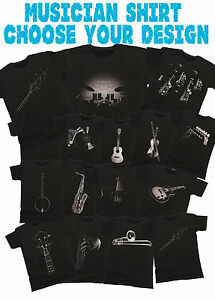 Musician-Unisex-T-Shirt-Music-Band-Shirt-Mens-amp-Ladies-Choose-Your-Instrument