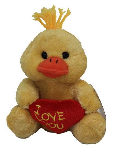 Teddy /& and Friends Lovepet Duck Bird Valentine Day 12cm Soft Plush Toy NEW