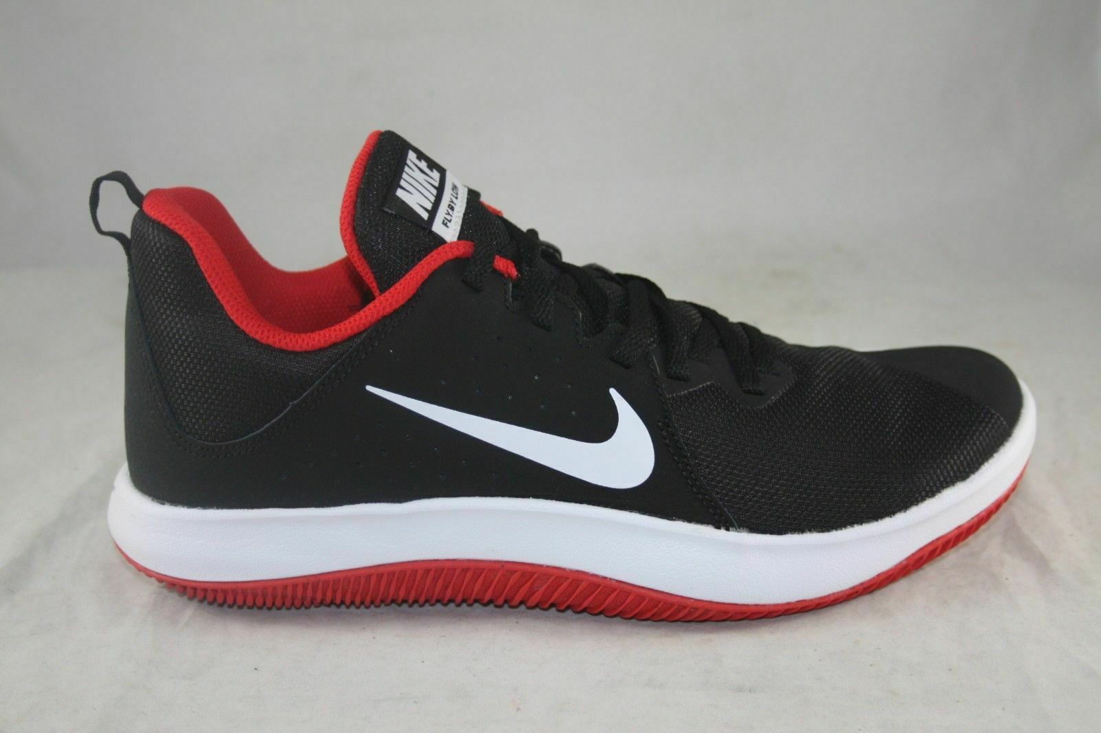 b2c7852dbbb5 NIB Mens Nike Fly.By Low NBK Black White White White University Red 908973  006