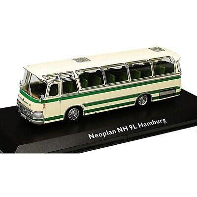 Neoplan NH 9L Hamburg Bus Fertigmodell aus Die-Cast Metall in Vitrine  1:72