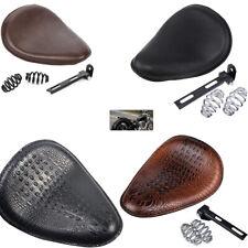 """Motorcycle Gold 3/"""" Solo Seat Springs /& Black T-Bar Mounting Bracket Universal #K"""