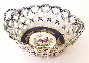 chelle Bleu Exotiques Oiseaux Royal Panier Worcester Porcelaine Retiulcated cabines qxw1nCFIt