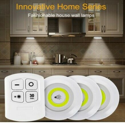 Under Cabinet Light Wireless Dimmable LED Closets Lights Touch Remote Control Night Lamp For Wardrob