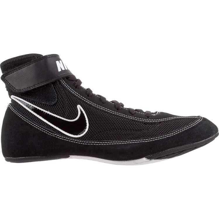 Nike  366683 001 Black White  Speed Sweep VII Wrestling Shoes size 10.5