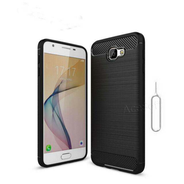 Carbon Fiber Samsung Galaxy J7 Prime SM-G610F Slim Cushion Protective Cover  Case