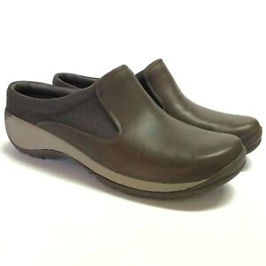 NEW-Merrell-Encore-Q2-Slid-Mesh-Women-11-42-5-Clogs-Shoes-Brown-Leather-Flat