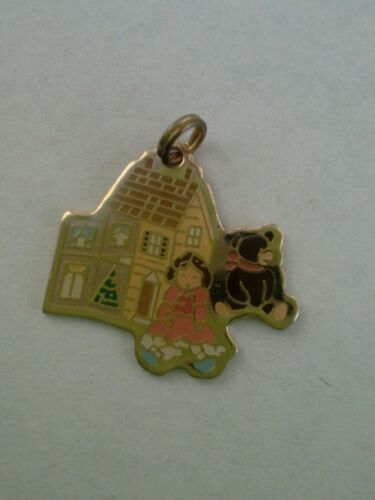 SALE Shirley/'s Dollhouse logo charm can be used as pin with gold safety pin
