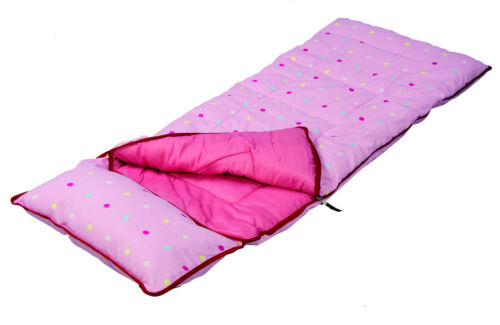Sunncamp Deluxe Junior Pink Dotty Sleeping Bag
