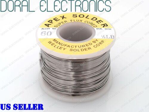 0.6mm 0.5 lb 226G 60//40 Rosin Core Flux Tin Lead Roll Soldering Solder Wire 1//2