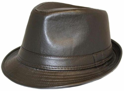 Unisexe Allure Cuir Vintage Chapeau Mou 2 couleurs