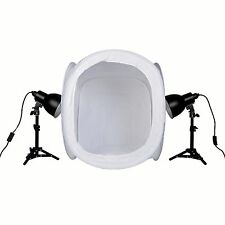 PhotoSEL PPC124 Studio Lighting Kit 52W 60cm Light Tent for Product Photography