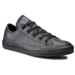 Details about converse mens chuck taylor black ox lo trainer shoe new leather 135253c 7.5 11