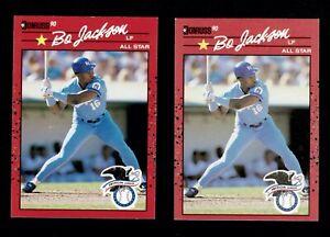 1990 DONRUSS BO JACKSON ALL STAR #650 ROYALS ERROR & CORRECTED NO . PERIOD RARE