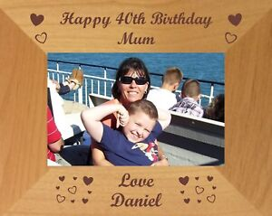 30th 40th 50th 60th 65th 70th 75th BIRTHDAY GIFT PERSONALISED PICTURE FRAME